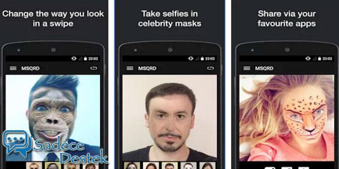 sadecedestek iPhone'un sevilen yüz değiştirme uygulaması Android'e geldi