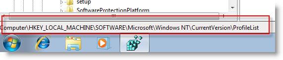 microsoft windows7 registry